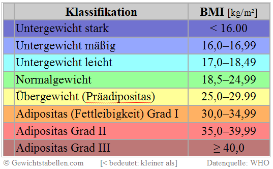 BMI Kritik WHO Basis